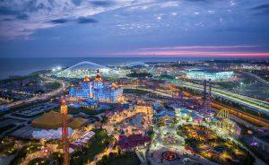 Популярный курорт в России