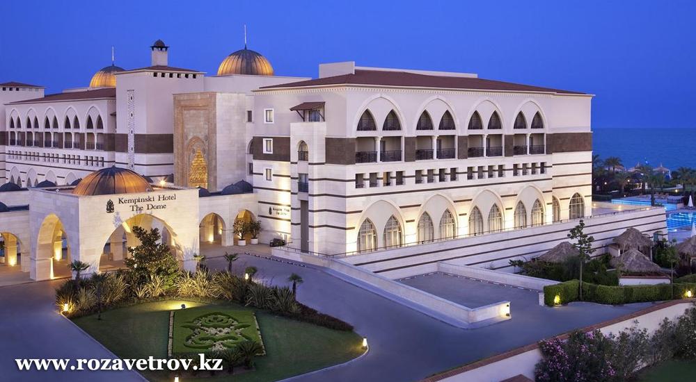Турция, отель KEMPINSKI 5* - раннее бронирование туров с вылетом из Алматы (5965-22)